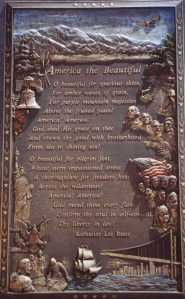 America the Beautiful Plaque