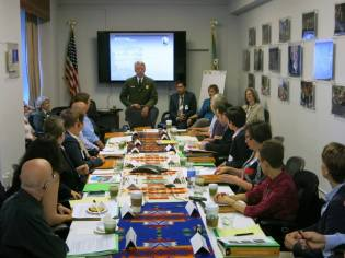June 10 LGBT roundtable at the Dept. of the Interior; photo by Gerard Koskovich